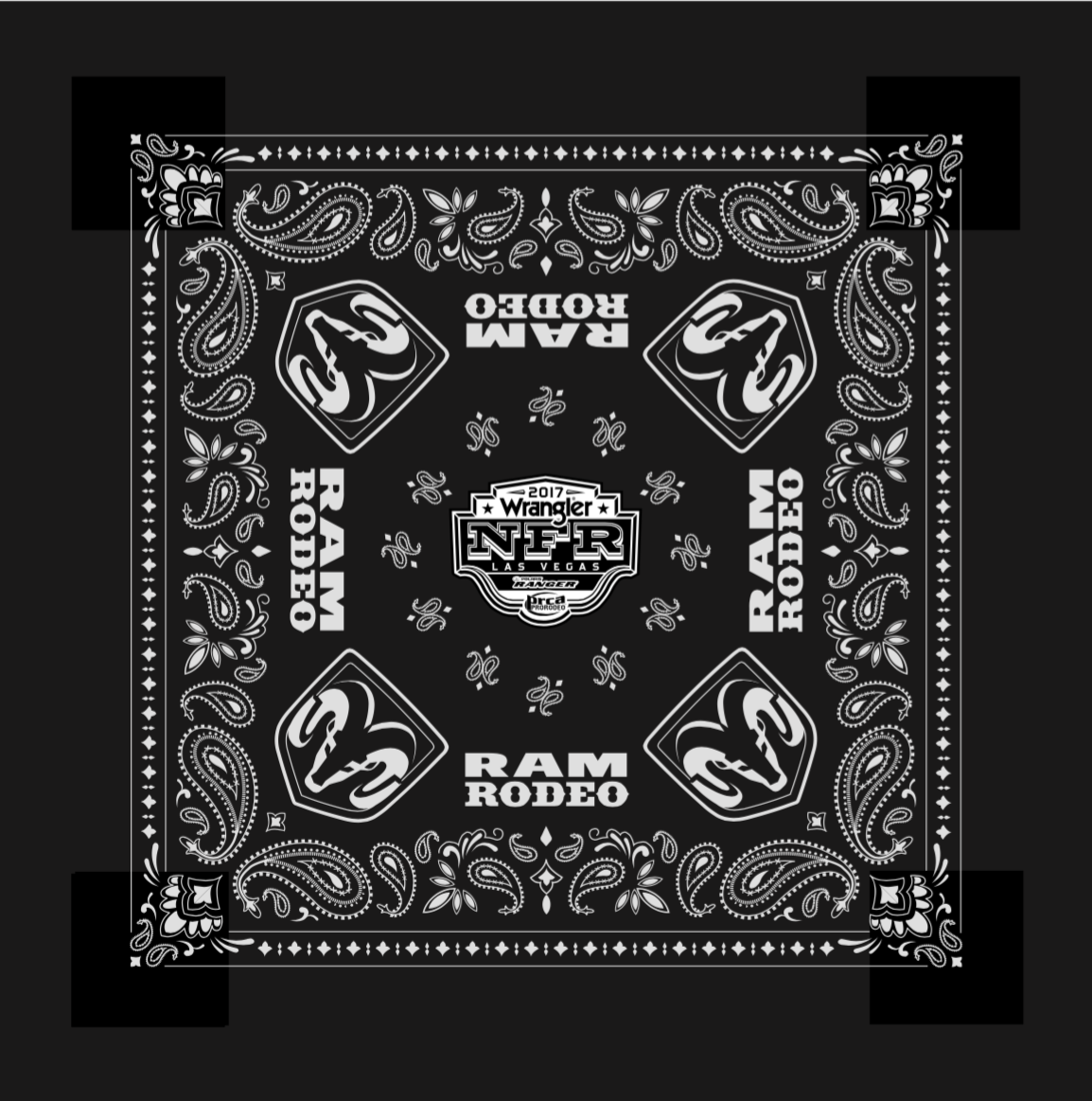 Official 2017 Ram Rodeo Bandana